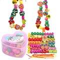 55/50 деревянные игрушки, детская игрушка «сделай сам», Мультяшные фрукты, животные, игры с бусинами, игры для девочек и мальчиков, Monterssori, Обуч...