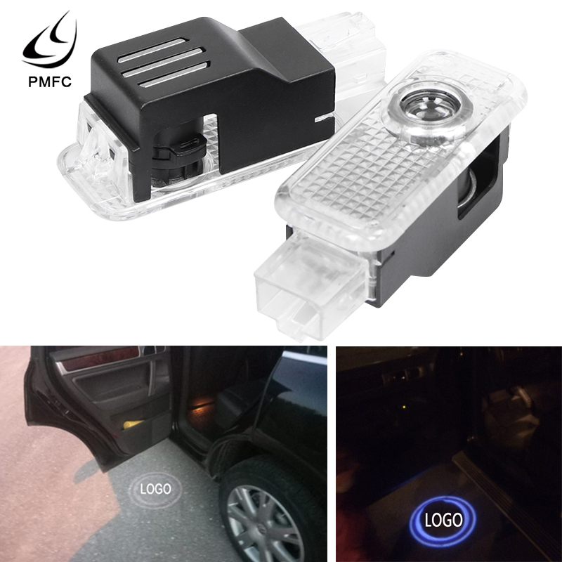PMFC 2x LED 3D Car Welcome Door Logo Light Projector Laser Ghost Shadow LampFor VW Touareg 2004 2005 2006 2007 2008 2009 2010