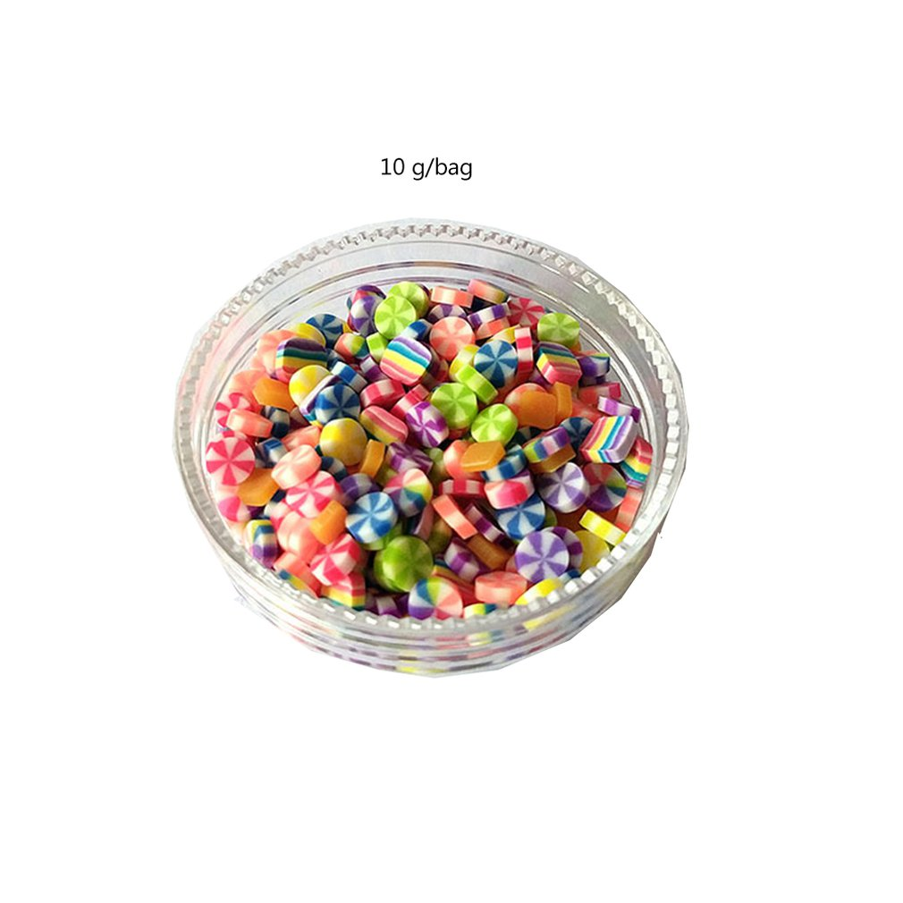 10G/Bag Colorful DIY Crystal Simulation Candy Round Mould Resin Mould For Decoration Of Mobile Phone Shell