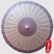 JPY Bamboo Deep Color Craft Umbrella Women Wooden Long-Handle Parasol Adult Retro Style Oil Paper Umbrella