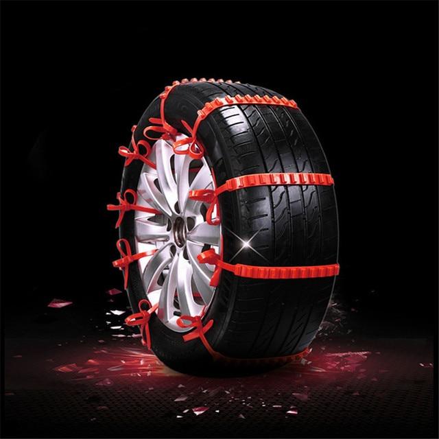 10 stücke Lot Auto Universal Mini Kunststoff Winter Reifen räder Schnee Ketten Für Autos/Suv Auto-Styling Anti -Skid Autocross Outdoor