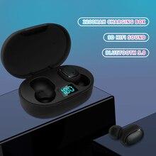 E6S TWS Bluetooth Earphone V5.0 Wireless Headphones Sport Waterproof Earphones Mini True Earbuds Headsets for All Smart Phone