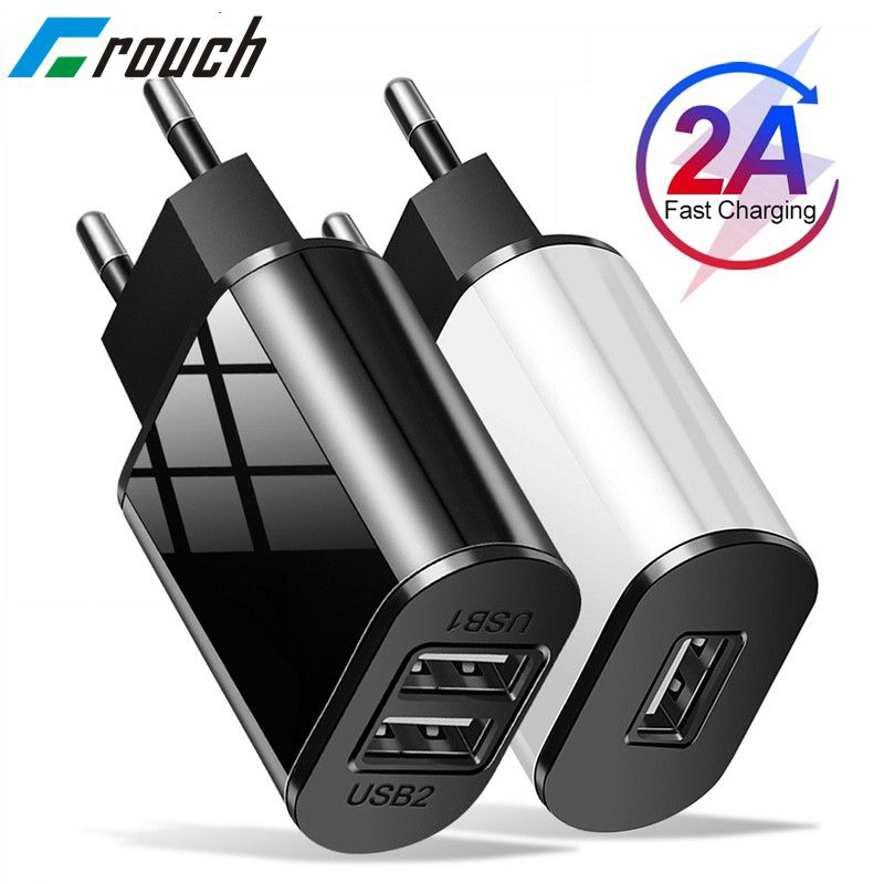 Universal Mobile Phone Charger 5V1A/5V2A USB Travel Charger Portable Wall Charger for iphone samsung Adapter EU Plug Black/White