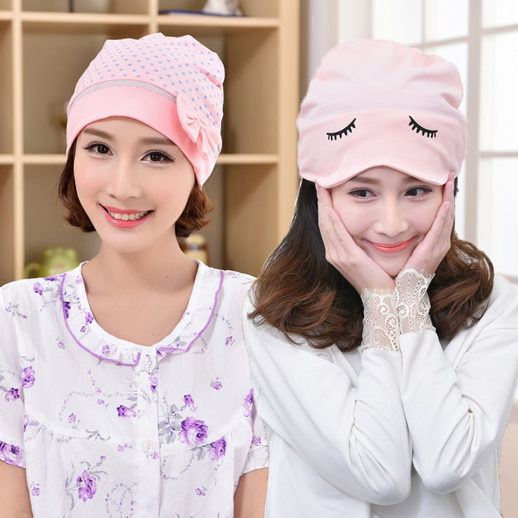Send Beanie) Sit Time Of Childbirth Cap Spring Summer Cotton Summer Thin Spring And Autumn Yun Fu Mao Postpartum Time Of Childbi