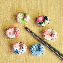 Изысканный японский стиль керамический держатель для палочек подставка Ложка Вилка отдых кухня Искусство ремесло Посуда Украшение Дома
