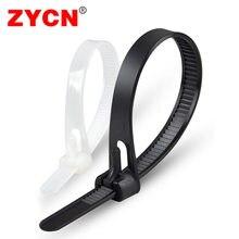 20 pçs plástico reusável cabo laços 8*200/250/300/450/12/18 releasable náilon pode perder slipknot 8/10/Polegada reciclar alta qualidade