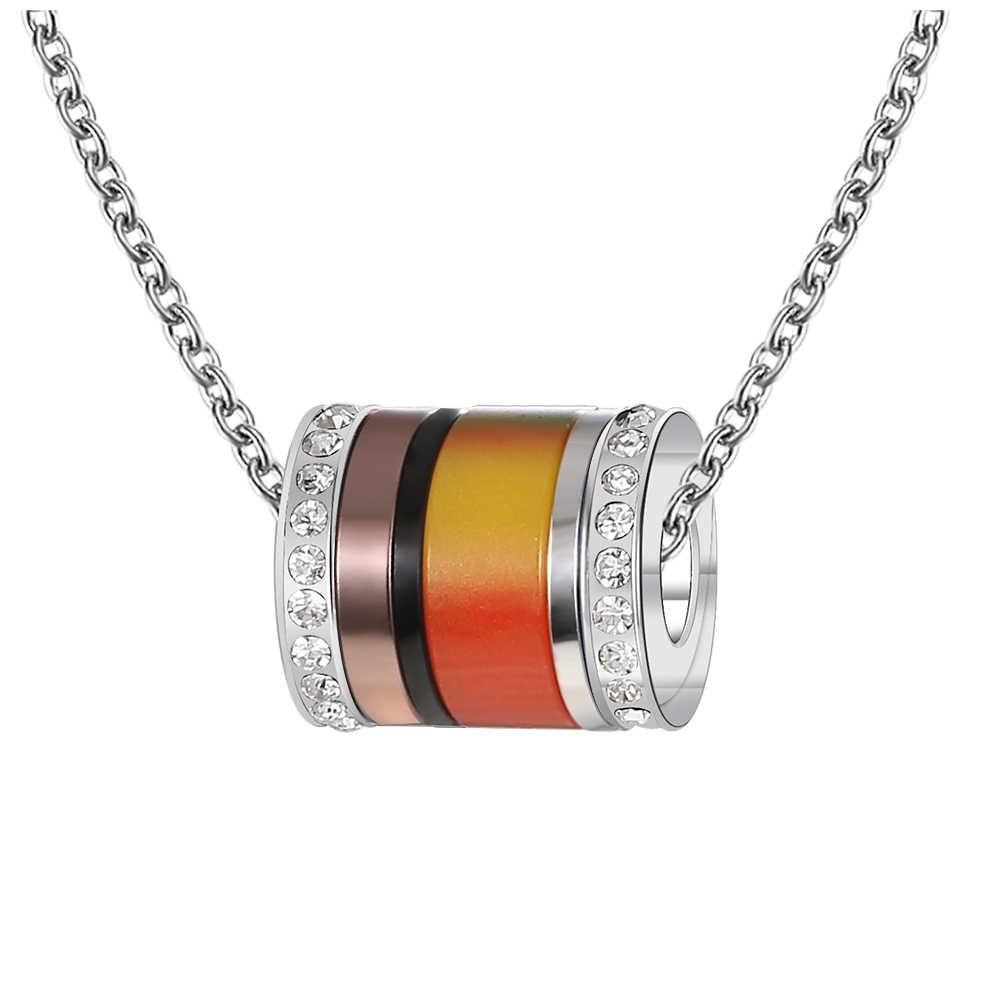 Floya miłośników kryształowe wisiorki naszyjniki regulowany stali nierdzewnej naszyjnik kobiety wymienne urok połączenie wisiorek Femme Bijoux