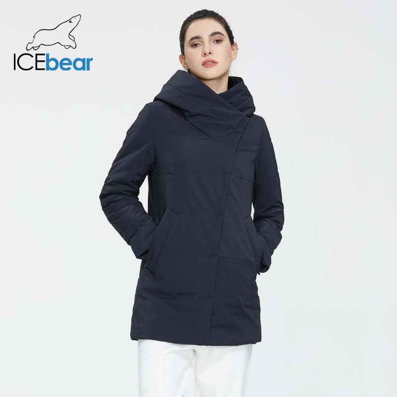 ICEbear 2020 가을 새로운 숙녀 코트 windproof 따뜻한 짧은 자 켓 지퍼가 달린 디자인 고품질 여성 의류 GWC20508I