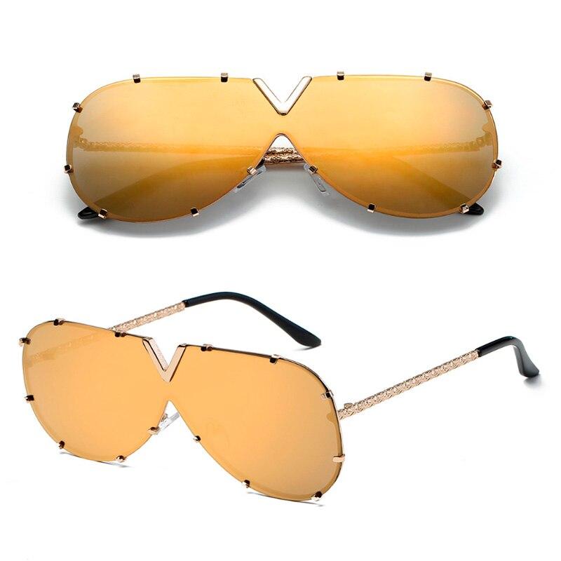 New 2019 Pilot Sunglasses Men Brand Designer Metal Frame Oversized Sunglasses For Women Top Fashion Eyewear UV400 Mirror