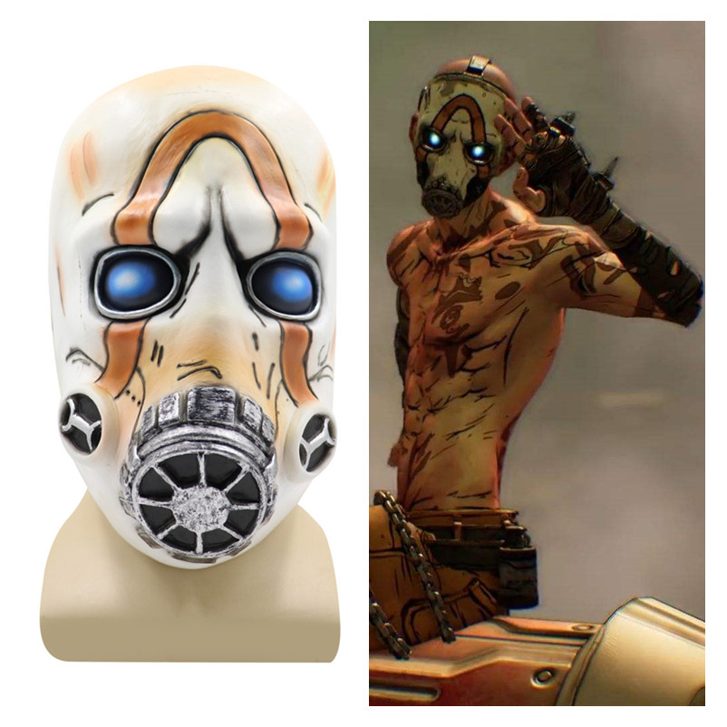 New Game <font><b>Borderlands</b></font> 3 Psycho Cosplay Mask Helmet Latex Masks Child Adult Party Fancy Ball Halloween Carnival Props 2019 image