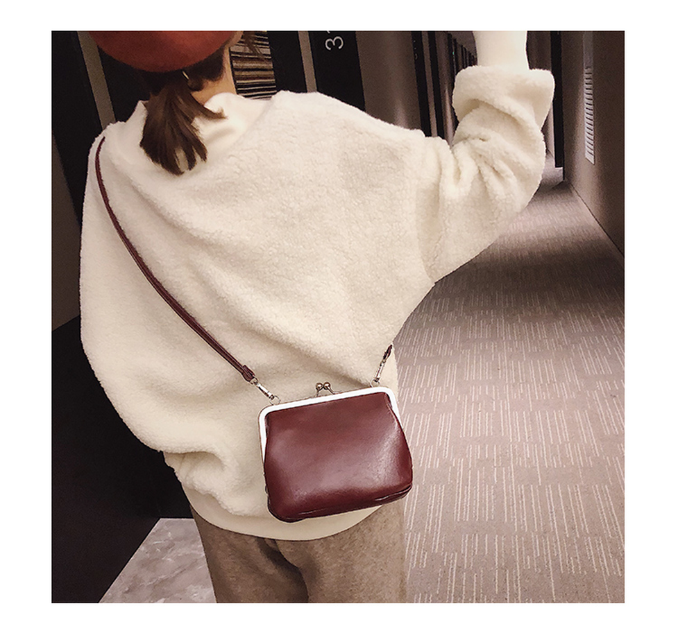 Casual Solid Color Women's Clip Bags Shoulder Messenger Bags Retro Crossbody Bags For Women Luxury Pu Leather Women Handbags New