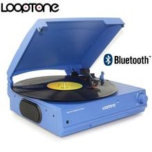 "LoopTone חגורת כונן 33/45/78 סל""ד Bluetooth ויניל LP פטיפון פטיפון דיסק רמקולים מובנים לאוזניות & RCA קו החוצה"