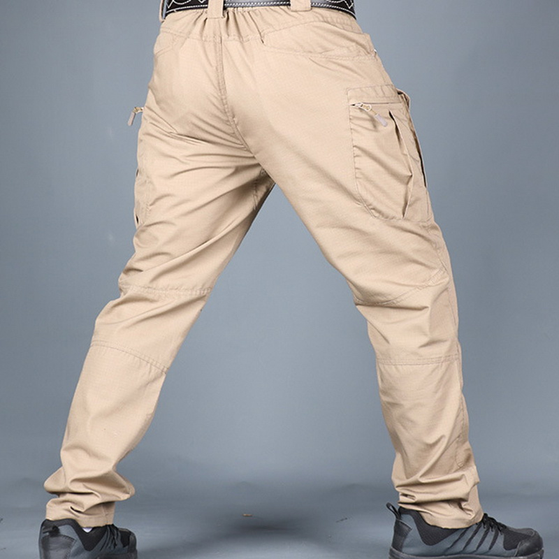 CYSINCOS Men Tactical Pants Fashion Multi Pockets Hip Hop Joggers Sweat Pants Waterproof Military Hiking Outdoor Trousers 3XL