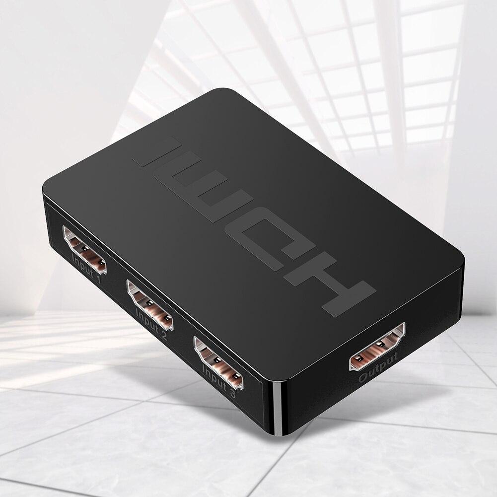 Коммутатор классический Цвета простой прочный HW-HD301M 3 Порты и разъёмы 1080P HDMI 3x1 Разделитель с мультимедийным интерфейсом высокой четкости коробка с пультом дистанционного управления Управление
