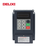 DELIXI frequency inverter 0.4KW 0.75KW 1.5KW 220V single phase input and output Speed Drive motor frequency converter