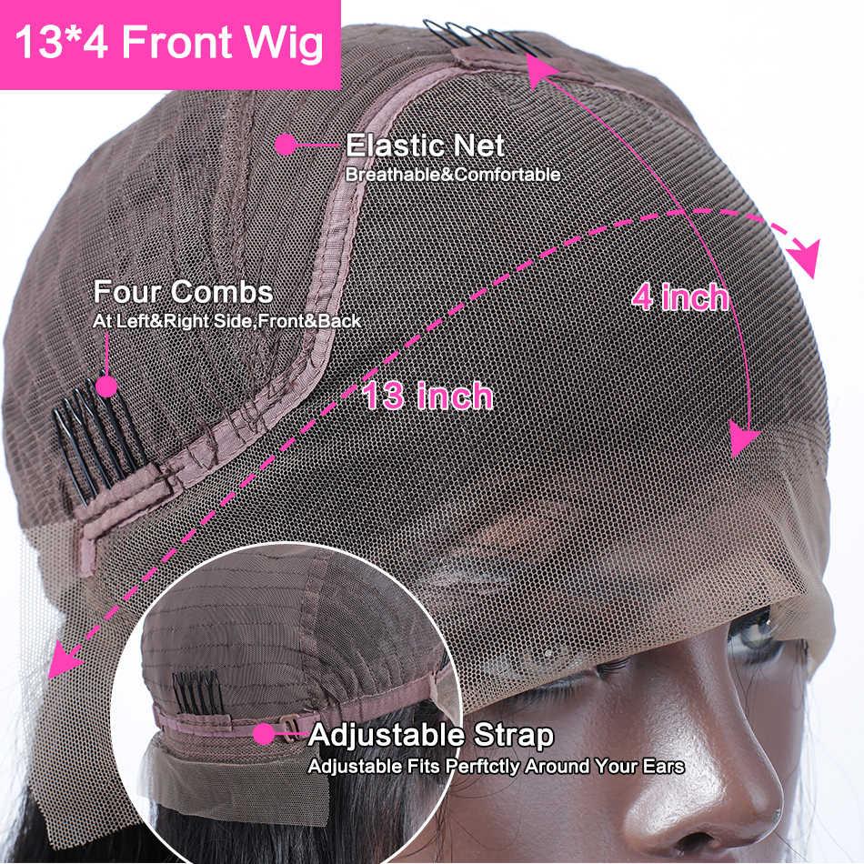 Links 13x4 perucas de cabelo humano da parte dianteira do laço curto 6- 16 Polegada brasileiro em linha reta bob peruca pré arrancado com o cabelo do bebê perucas frontais