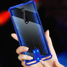 Omeve capa amortecedora para xiaomi mi 9t, cobertura traseira sem moldura de metal e vidro temperado para xiaomi 9t pro capa para celular/redmi k20 k20 pro
