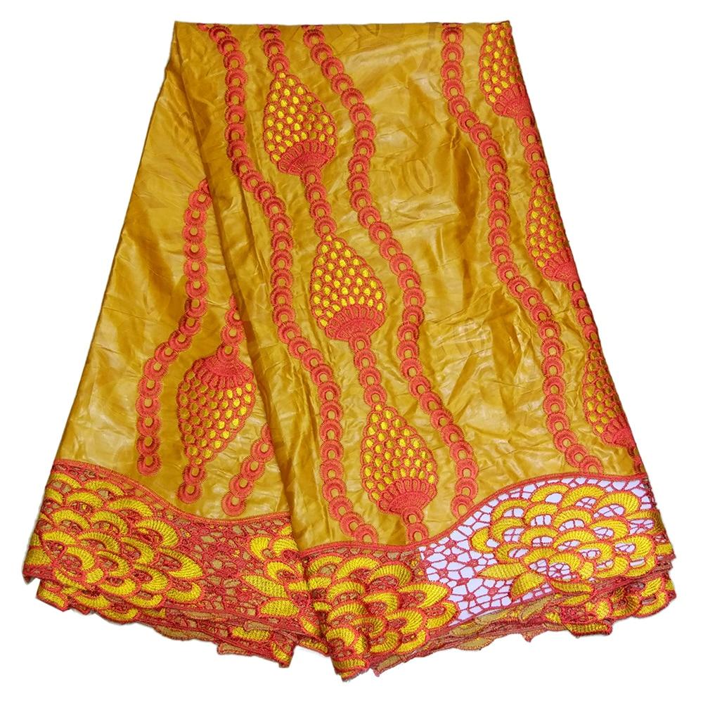 100% Cotton Bazin Riche Getzne DIY Fabric Pine Cones Embroidery African Lace Fabrics