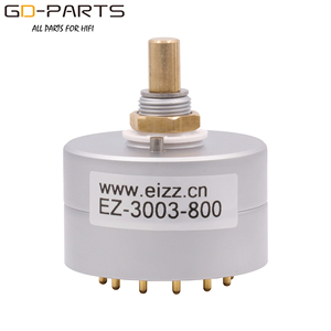 Image 1 - EIZZ 3 Way 3 Positions Rotary Switch Signal Source Selector Aluminum Shield 12 Gold Plated Copper Pins Hifi Audio AMP DIY