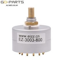 Eizz 3 Manier 3 Posities Draaischakelaar Signaal Bron Selector Aluminium Shield 12 Vergulde Koperen Pins Hifi Audio Amp diy