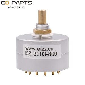 Image 1 - Eizz 3 way 3 posições interruptor rotativo fonte de sinal seletor alumínio escudo 12 pinos cobre banhado a ouro alta fidelidade áudio amp diy