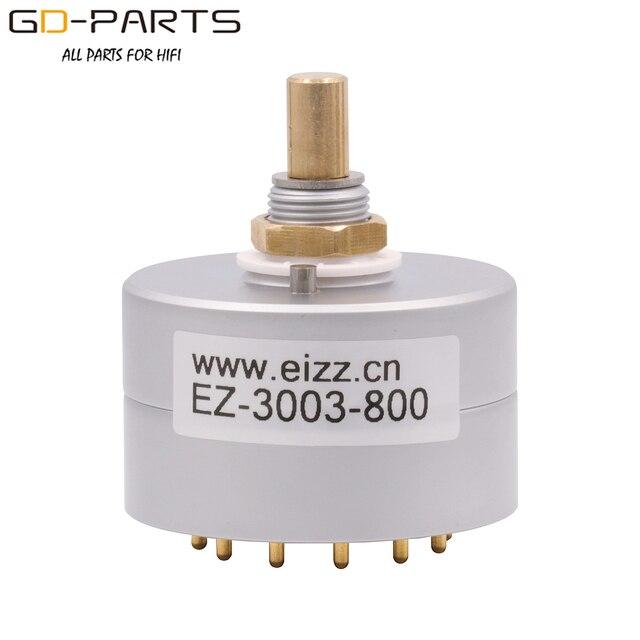 Eizz 3 way 3 posições interruptor rotativo fonte de sinal seletor alumínio escudo 12 pinos cobre banhado a ouro alta fidelidade áudio amp diy