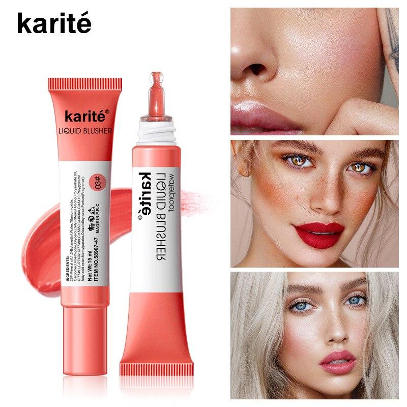 Facial Blusher Liquid Blush Cosmetic Blusher 4colors Long Lasting Natural Blusher Face Contour Makeup Blush Brightens Skin TSLM1