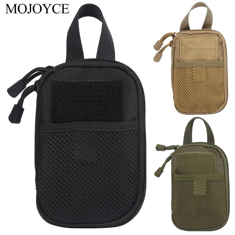 Oxford Cloth Molle Waist Fanny Packs Net And Inner Layer Magic Paste Structure Outdoor Sports Pouch Mobile Phone Key Bags