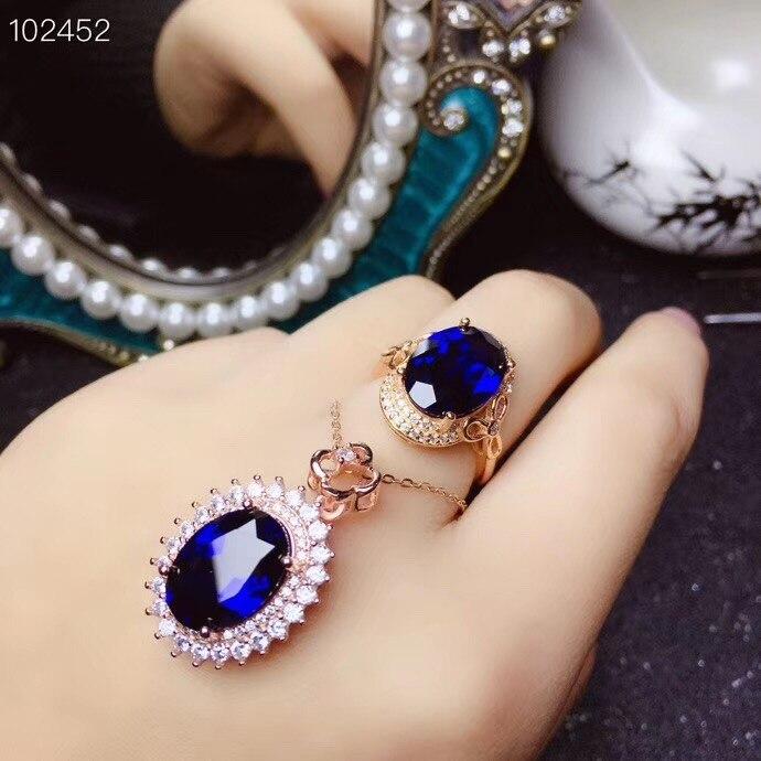 KJJEAXCMY boutique di gioielli in argento sterling 925 intarsiato anello di zaffiro Naturale ciondolo donna vestito supportano il rilevamento squisita - 5