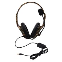 Wired Game Headset with Microphone, Headworn Camouflage Bilateral Large Headset for Playstation 4 PS4 X-One PC and Laptop(China)