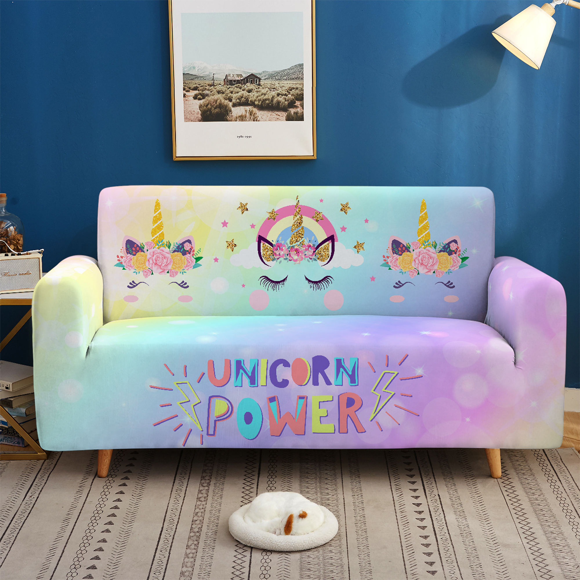 Furniture Spandex Sectional Sofa Cover