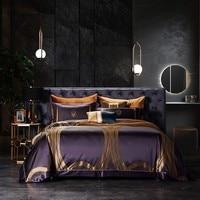 Luxury Royal Premium 100%Mulberry Silk Bedding set Purple 100%Silk include 1Pc Duvet Cover 1Pc Flat Bed sheet 2 Pcs Pillowcase