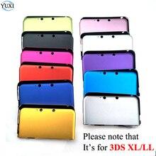YuXi אלומיניום קשיח מתכת תיבת מגן עור כיסוי מקרה פגז עבור Nintendo עבור 3DS XL LL
