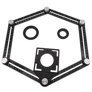 Image 2 - Sześciostronne narzędzie pomiarowe ze stopu aluminium szablon kątowy mechanizm narzędziowy slajdy z lokalizatorem otworów