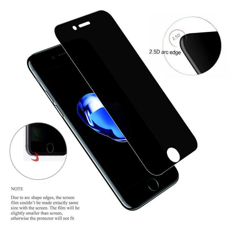 Tempered Glass untuk iPhone X XR X Max Anti-Spy Kaca Pelindung untuk iPhone 11 Pro Pelindung Layar untuk iPhone 7 8 6 6S PLUS