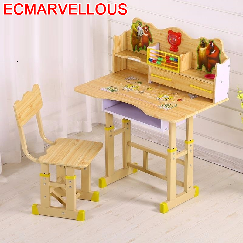 De Estudio Children Mesinha Escritorio Child And Chair Avec Chaise Adjustable Mesa Infantil Bureau Enfant For Kids Study Table
