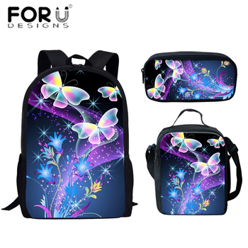 FORUDESIGNS Print Kpop Style Brand 2020 Backpacks For School Butterfly Teenagers Girls Boys Bags Fashion Women Travel Back Pack
