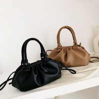 Ladys Leather Purse Luxury Handbags Women Bags Designer Clouds Hand Bag Solid Color Messenger Bag Femal Party Tote dumplings
