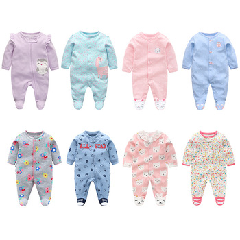 Baby cotton romper newborn spring clothes baby boy jumpsuit bebe pajamas infant clothing girl onsies