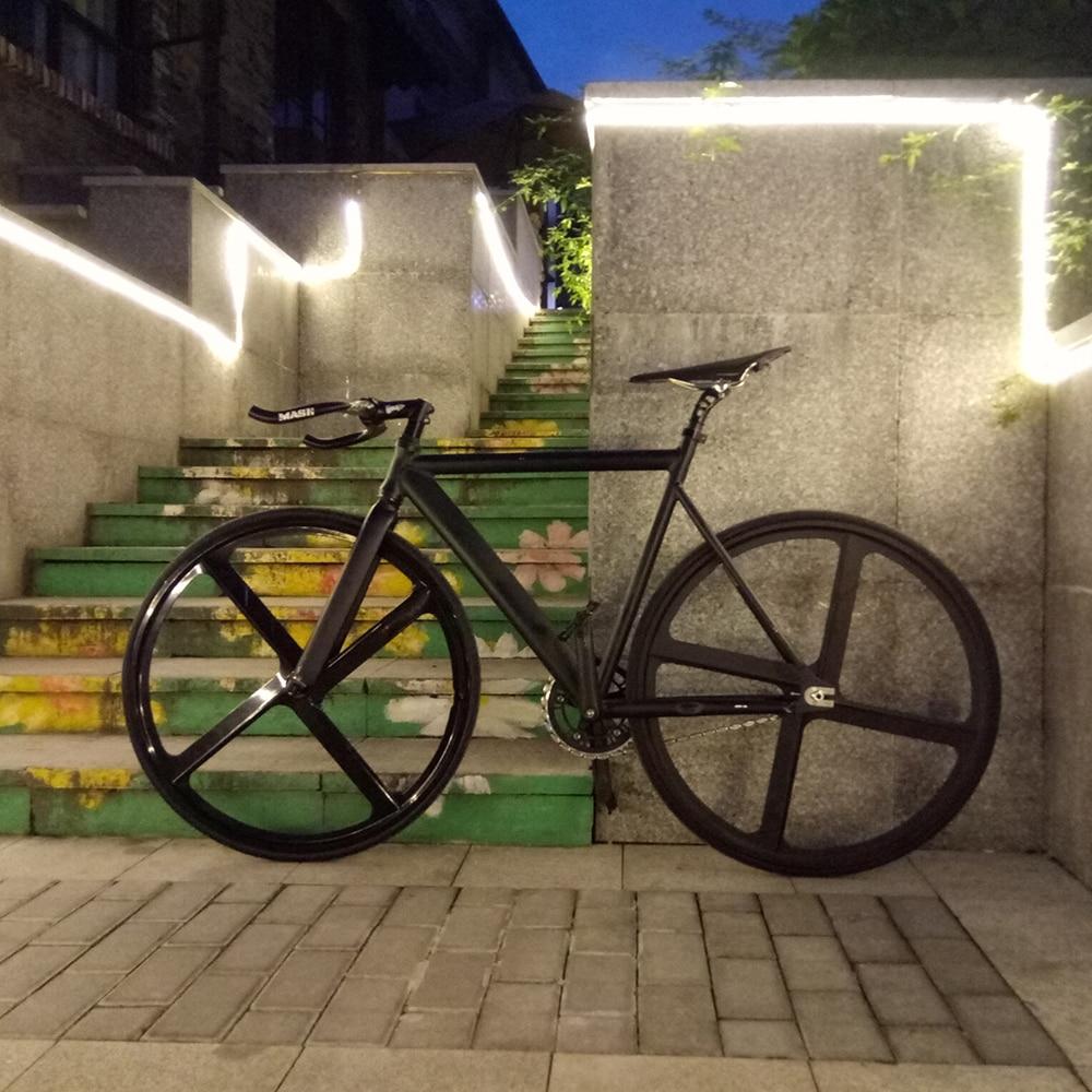 Fixie Bike Urban Track Bike frame with Aluminum Fork 4 spokes Magnesium Alloy RIM road bicycle Fixed Gear Bike single speed