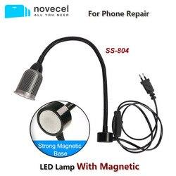 SUNSHINE SS-804 lampe à LED magnétique base aimantée COB mèche lampe aluminium abat-jour universel peut magnétiquement adsorbé