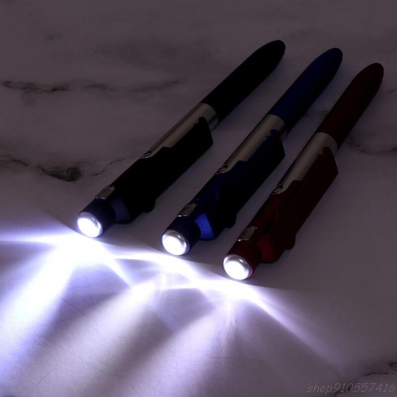 Многофункциональная шариковая ручка 4 в 1, складная светодиодная подставка для мобильного телефона, держатель, канцелярские принадлежности...