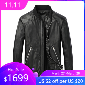 Baseball Leather Jacket Man Faux Leather Standard Collar Punk Style bomber jacket For Men High Street M-8XL Big size Slim