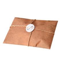 30 Pcs/lot Vintage Kraft Envelopes Wedding Invited Envelope Postcard Cover Paper Stationery Zakka for Gift Invitation