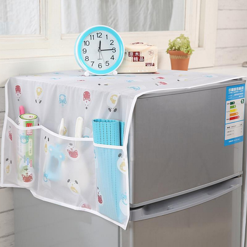 1 Pcs Home Refrigerator Dust Cover Washing Machine Towel Cover Household Korean Refrigerator Cover Kitchen Accessories Supplies
