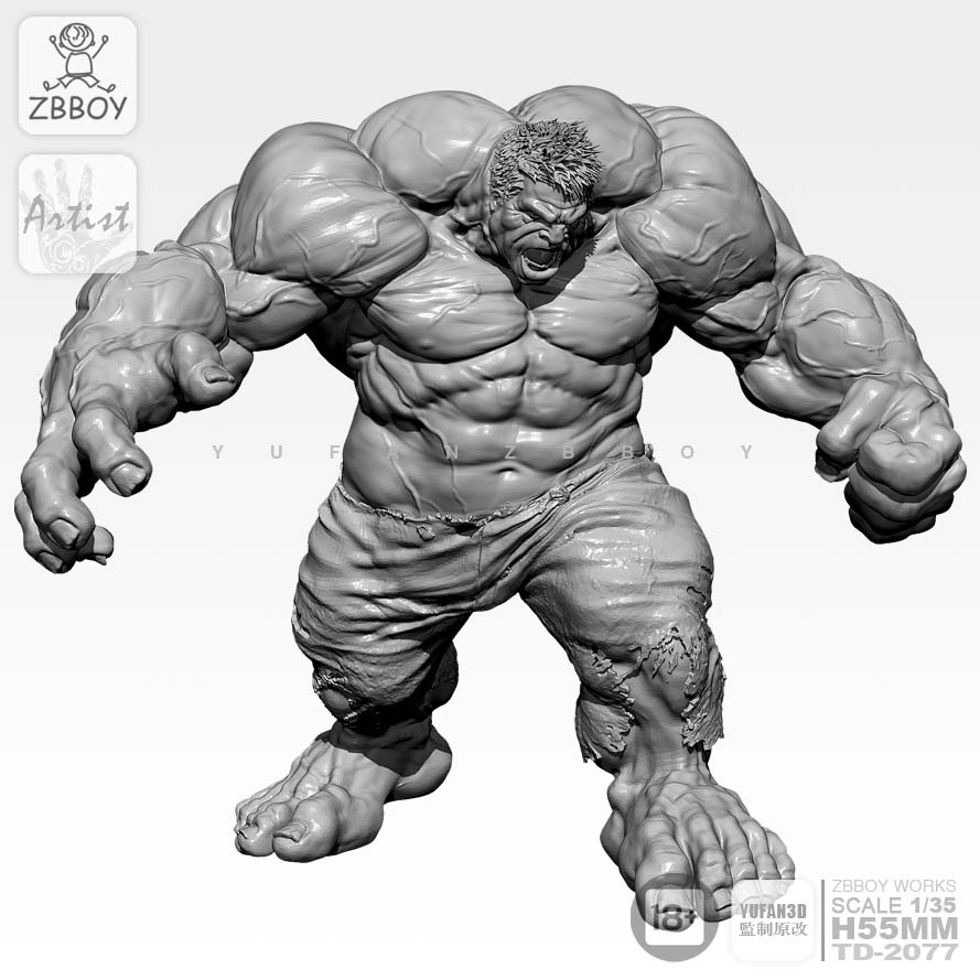 <font><b>1/24</b></font>,<font><b>75MM</b></font> <font><b>Resin</b></font> Figure <font><b>model</b></font> <font><b>Kits</b></font> Furious Giant <font><b>Resin</b></font> Soldier <font><b>Model</b></font> Self-assembled image