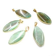 Natural Stone Agates Pendants Elliptical shape Pendant for Jewelry Making Diy necklace accessories Size 22x45 mm цена
