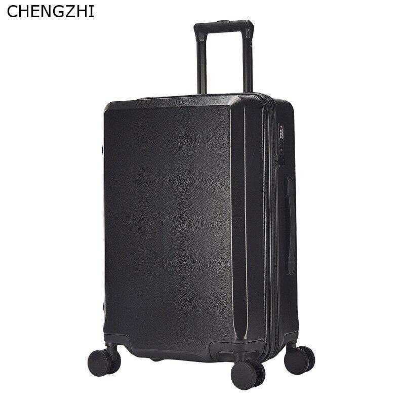 Nouvelle mode 20/24 pouces valise d'embarquement chariot ABS + PC coloré voyage étanche bagages Set valise à roulettes Spinner boîte - 4