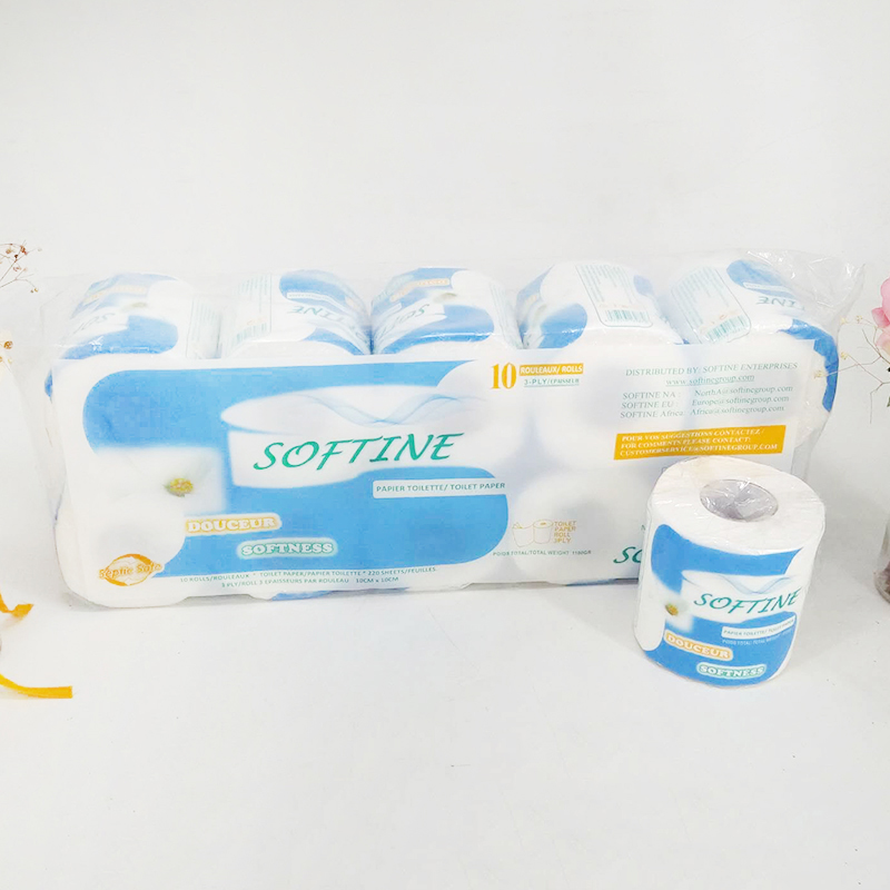 10 Rolls Toilet Paper 3-ply Toilet Tissue Paper Home Kitchen Toilet Tissue Silky Smooth Soft Native Pulp Paper Bath Toilet TSLM1