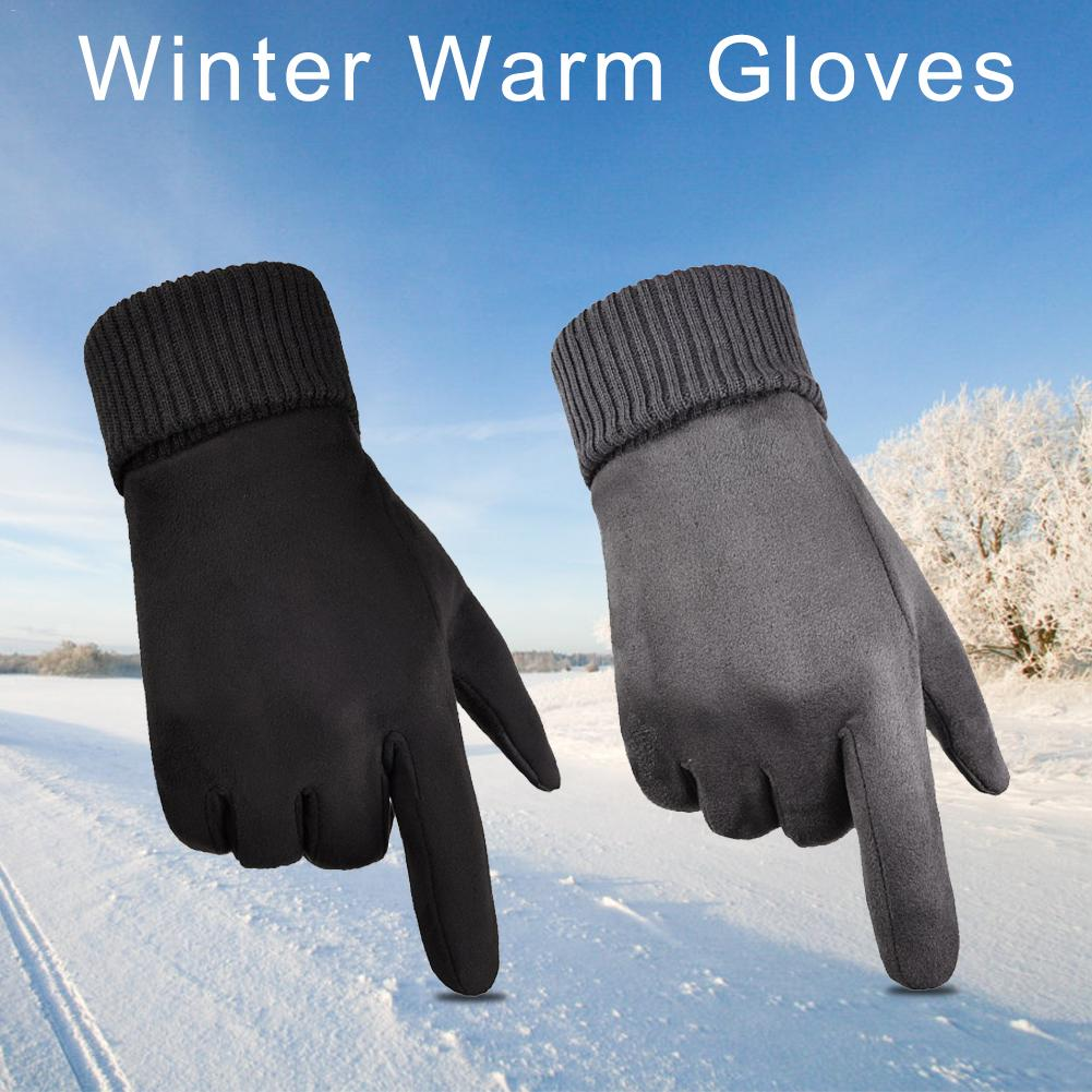 Winter Warme Handschuhe Outdoor Sport Motorrad Fahrrad Handschuhe Fleece <font><b>Touch</b></font> <font><b>Screen</b></font> Anti-Skid Winddicht Kalten Beständig Fäustlinge 30E image
